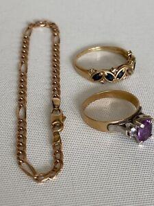 9ct Solid Gold Jewellery Lot    Repair or Scrap   8.7 grams