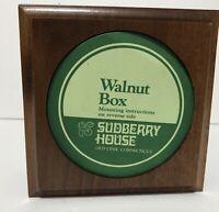 "4/"" Small round box for needlework insert Matte Black Sudberry"