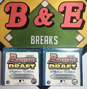 SEATTLE MARINERS 2020 BOWMAN DRAFT SAPPHIRE 2 BOX TEAM BREAK