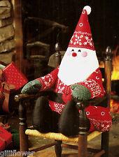SANTA CHRISTMAS DOLL & PILLOW - VINTAGE SEWING PATTERNS