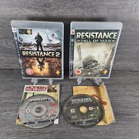 PLAYSTATION 3 - PS3 - RESISTANCE GAME BUNDLE - FALL OF MAN & 2 - COMPLETE