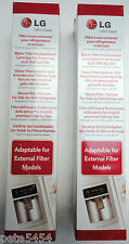 2 x genuine LG 5231JA2010B external fridge water filter 5231JA2010C side-by-side