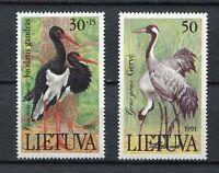 S11917) Lietuva Lithuania MNH 1991, Birds 2v