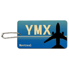 Montreal QC - Mirabel (YMX) Airport Code Wood ID Tag Luggage Card Suitcase
