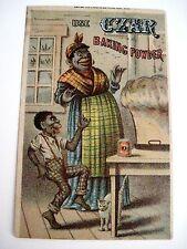 "Vintage Black Americana Victorian Trade Card for ""Czar"" Baking Powder *"