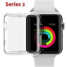 NSR Apple Watch Series 2 38mm Case TPU Screen Protector .3mm HD Clear 3 PACK