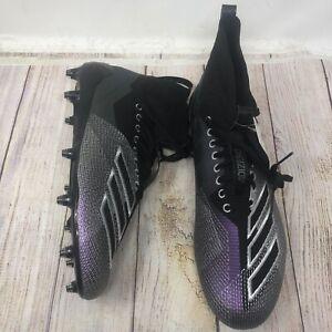 Adidas Adizero 8.0 SK Mens D97030 Black Night Metallic Football Cleats Size 11.5