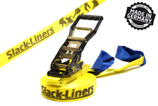 Classic Slackline-SET - 50mm-larga 25m lungo giallo-Made in Germany