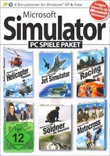 Microsoft Simulator Paket für Windos XP und Vista 6 Spiele für Pc Neu Ovp