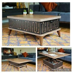 MAGIC CITY EXTENDABLE COFFEE / DINING TABLE 6 IN 1