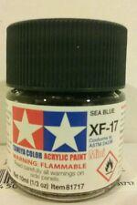 Tamiya acrylic paint XF-17 Sea blue. 10ml Mini
