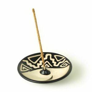 """Incense Burner Peruvian Handmade Ceramic Incense Holder for Stick Incense  4.75"""""""