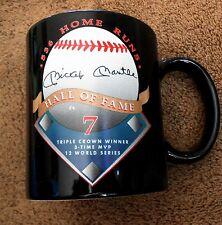 New York Yankees Hall Of Fame Mickey Mantle Four Inch High Black Coffee Mug NR!