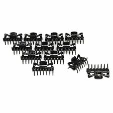 12pcs Women Girls Hair Claw Clip Jaw Clamp Black Hairpin Tiara LW