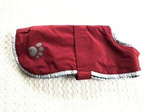 Zack & Zoey Polyester Nor'easter Dog Blanket Coat Red Reversible Medium