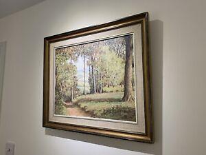 Original Oil Painting Lambert's Castle Dorset Signed Eric Street Framed Trees
