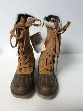 Mukluks Womens Size 6  Lace Up Boot In Mustard New