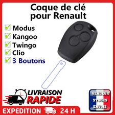 Coque clé pour Renault 3 boutons Clio Modus Twingo Kangoo télécommande plip
