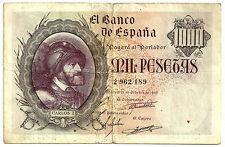 BILLETE DE 1000 PESETAS DE 1940 (MBC-) CARLOS I (SIN SERIE)