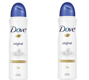 Dove Original Moisturising Cream Women Deodorant Body Spray 150ml x 2