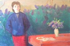 Armenian Art Gallery,Woman/Flowers 50s,Soviet Impressionist Oil Painting,Armenia