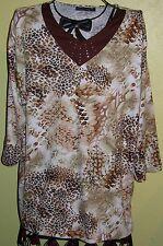 80 ) Nekisches Buntes Damen Leoparden T Shirt Gr. XL der Firma N & H Collection