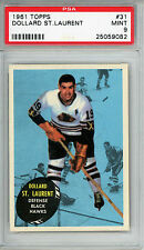 1961 Topps #31 Dollard St. Laurent PSA 9 MINT Top Pop 1 of 10 Chicago Blackhawks