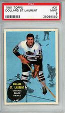 1961 Topps #31 Dollard St Laurent PSA 9 MINT Top Pop 1 of 10 Chicago Blackhawks