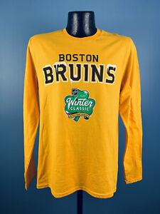 Men's Fanatics NHL Boston Bruins 2019 Winter Classic Cotton LS Shirt NWT Small
