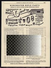 1941 WINCHESTER Model 94 & 55 Lever Action Repeating Rifle Parts List AD