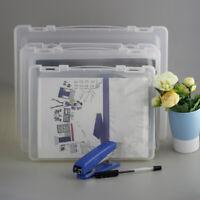 Transparent Clear PP File Storage Boxes Document Case Desk A4/A5 Paper Organizer