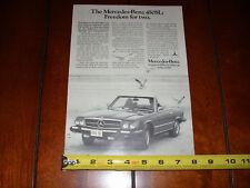 1975 MERCEDES BENZ 450SL - ORIGINAL AD