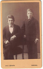 CDV Photo of Two Young Brothers Mid 1800s from Sundsvall, Sweden