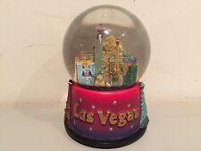 Vintage Sankyo Las Vegas Musical Snow Globe Buildings and Casinos Rare!