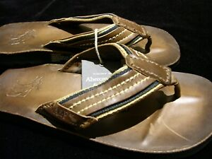 Abercrombie & Fitch leather flip flops sandals NWT