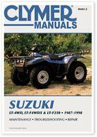 CLYMER SUZUKI KING QUAD RUNNER LT-F250 SERVICE LT250 MANUAL ATV M483-2 70-0483