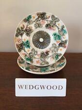 Antique Wedgwood Majolica Argenta STRAWBERRY Dessert Plate ~ Pair