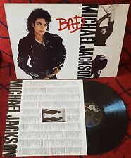 MICHAEL JACKSON *** Bad *** ORIGINAL 1987 Mexican LP w/ INSERTS