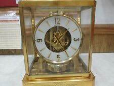 Jaeger Le Coultre Atmos Dated 1960 Perpetual Clock sn 130556 Good Spring Runs