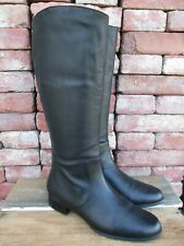 Fitzwell Women's Jelly Classic Black Leather Tall Riding Boots 8 M