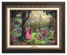 Thomas Kinkade - Sleeping Beauty – Canvas Classic (Aged Bronze Frame)