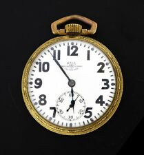 Antique 1927 Ball Watch Co Hamilton Grade 999P 16s 21j YGF Railroad Pocket Watch