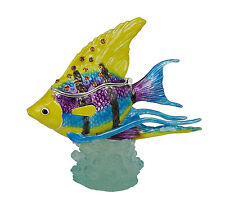 RUCINNI  Purple Angel Fish Trinket Box