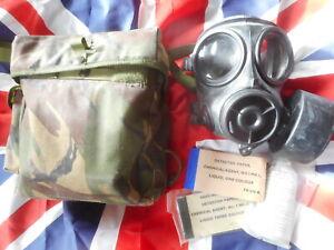 2001 avon BRiTiSH army sas ISSUE RESPIRATOR S10 S 10 SIZE 3 M & plce POUCH & kit