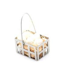 1/12 Dollhouse Furniture Miniature Metal egg Basket Dolls House Kitchen Decor ZQ