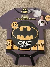 Batman First Year Milestone 12 Belly Stickers Dc -New in Package