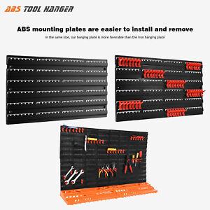 3X Peg Board Shelf Tool Organiser Garage Wall Rack Panel Hanging Storage Shed!!