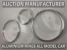 Pour Peugeot 207 2006-2012 Cerclages De Compteur Aluminium Anneaux Chrome x3