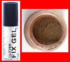 FINE  BRONZE PRO GLITTER DUST POWDER EYE SHADOW FACE BODY NAILS + FIX GEL (116)*