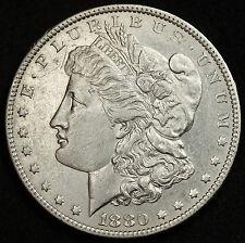 1880-o Morgan Silver Dollar.  A.U.  92558  (INV.E)